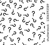 black question marks random... | Shutterstock .eps vector #1306593589