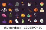 halloween illustration icons | Shutterstock .eps vector #1306597480