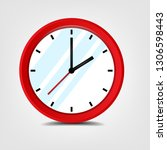 clock icon in flat style | Shutterstock .eps vector #1306598443