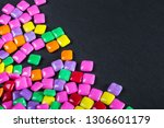 lies a lot of rainbow colored... | Shutterstock . vector #1306601179