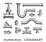 plumbing material tubes and...   Shutterstock .eps vector #1306606669