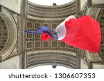triumphal arch of paris from... | Shutterstock . vector #1306607353