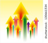 upward business arrow | Shutterstock .eps vector #130661534