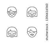 linear geek  happy  kiss ...   Shutterstock .eps vector #1306616560
