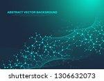 scientific molecule background... | Shutterstock .eps vector #1306632073