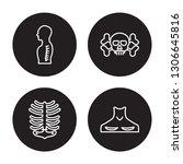 4 linear vector icon set  ... | Shutterstock .eps vector #1306645816