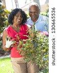 a happy senior african american ... | Shutterstock . vector #130665536