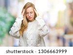 young beautiful blonde woman...   Shutterstock . vector #1306663999