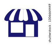 shop store icon  storefront or... | Shutterstock .eps vector #1306664449