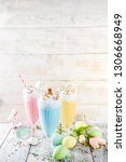 funny easter food  ideas... | Shutterstock . vector #1306668949