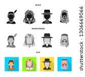 vector illustration of imitator ... | Shutterstock .eps vector #1306669066