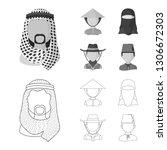 vector illustration of imitator ... | Shutterstock .eps vector #1306672303