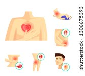 vector design of pain and...   Shutterstock .eps vector #1306675393