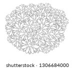 black and white circle flower... | Shutterstock .eps vector #1306684000