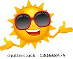 Vector Happy Sun Cartoon  ...