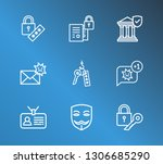 protection icon set and online...
