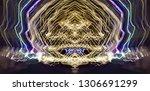 abstract symmetrical... | Shutterstock . vector #1306691299