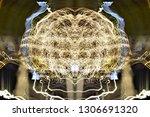abstract symmetrical... | Shutterstock . vector #1306691320