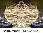abstract symmetrical... | Shutterstock . vector #1306691323