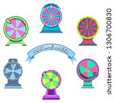 set icons of wheels of fortune... | Shutterstock .eps vector #1306700830