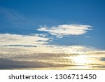 blue sky background with... | Shutterstock . vector #1306711450