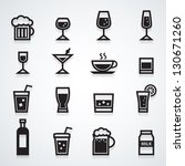 drink icons set | Shutterstock .eps vector #130671260