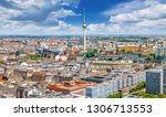 panoramic view at the city... | Shutterstock . vector #1306713553
