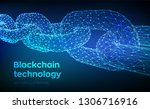 block chain. crypto currency.... | Shutterstock .eps vector #1306716916