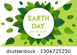 ecology theme happy earth day... | Shutterstock .eps vector #1306725250