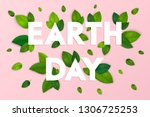 ecology theme happy earth day... | Shutterstock .eps vector #1306725253
