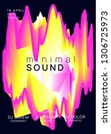 music poster. fluid holographic ...   Shutterstock .eps vector #1306725973