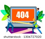 error 404 screen. the server... | Shutterstock .eps vector #1306727020