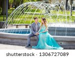 pleasant walk. delighted...   Shutterstock . vector #1306727089
