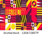 abstract background in the...   Shutterstock .eps vector #1306728079