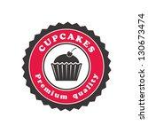 cupcake emblem | Shutterstock .eps vector #130673474