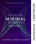 dj party. dynamic gradient...   Shutterstock .eps vector #1306740130
