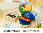 materials in a classroom for... | Shutterstock . vector #1306746046