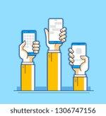 internet communication and... | Shutterstock .eps vector #1306747156