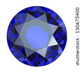 jewelry gems roung shape on... | Shutterstock . vector #130675400