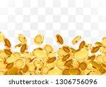 falling coins  falling money ... | Shutterstock .eps vector #1306756096