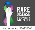 rare disease day poster or... | Shutterstock .eps vector #1306756966