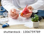 at doctors appointment... | Shutterstock . vector #1306759789
