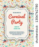 layout of carnaval party... | Shutterstock .eps vector #1306762780