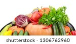 big collection vegetables and... | Shutterstock . vector #1306762960