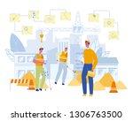 building engineer at... | Shutterstock .eps vector #1306763500
