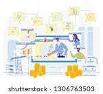 oil production business.... | Shutterstock .eps vector #1306763503