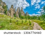 cathedral spires from the... | Shutterstock . vector #1306776460