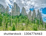 cathedral spires from the... | Shutterstock . vector #1306776463