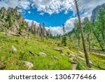 cathedral spires from the... | Shutterstock . vector #1306776466