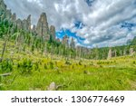 cathedral spires from the... | Shutterstock . vector #1306776469